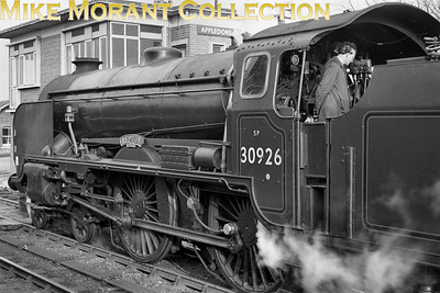 LCGB: The Kentish Venturer 25/2/62 (Farewell To Steam) Maunsell 'Schools' class 4-4-0 no. 30926 Repton at Appledore prior to hauling the tour train to CharingCross.