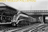 <center><b>RCTS/SLS: Aberdeen Flyer 2/6/62</b><br> Gresley A4 pacific no. 60022 <i>Mallard</i> was in charge of thr first leg of this two day jolly that started from King's Cross and ended at Euston. The intention was that <i>Mallard</i> would 'fly' non-stop through to Edinburgh but fate brought another type of fly into the schedule in the form of one in the ointment as 60022 was brought to a halt by a failed engine on a preceding goods train. There must have been some creditable hard running thereafter as the special, on a tight schedule anyway, arrive at Waverley station only some 17 minutes late which was when this shot was taken at around 14.42. Waiting in the background is A4 no. 60004 <i>William Whitelaw</i> which left on time at 14.56 and kept time through to Aberdeen.<br> [<i>Mike Morant collection</i>]</center>