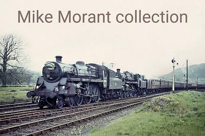 Festiniog Railway Society / Ian Allan: Ffestiniog AGM 25/4/64 BR Standard 4MT 4-6-0's 75009 and 75023 at Corwen. [Mike Morant collection]
