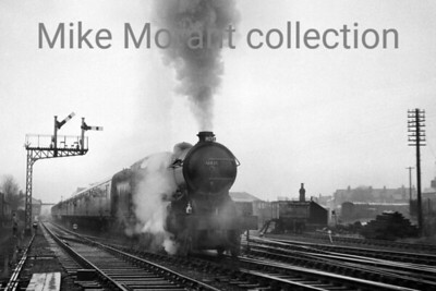 RCTS: The North Yorkshireman Rail Tour 25/4/64 Hauling a tour train that was beset with problems we see here ex-NER Gresley rebuilt Raven B16/2 class 4-6-0 no. 61435 departing from Starbeck in sprited fashion en route for Hawes.