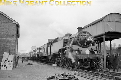 L:CGB: The East Devon (No. 1) 28/2/65 BR Standard 4MT 2-6-4T no. 80041 pauses at Colyton on the Seaton branch. This leg of the tour, Seaton Junction to Seaton and return, was 80041's only contribution to this railtour. [Mike Morant collection]