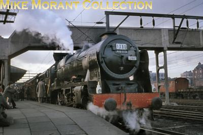 RCTS: The Rebuilt Scot Commemorative Rail Tour 13/2/65 Rebuilt Royal Scot 4-6-0 no. 46115 Scots Guardsman at Crewe.