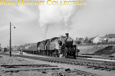 Plymouth Railway Circle/RCTS: The Exmoor Ranger 27/3/65 Ivatt 'Mickey' Mouse' 2-6-2T's nos. 41206 and 41291 double-head the special as it departs from Barnstaple (Victoria Road) on the way to Ilfracombe. [Mike Morant collection]