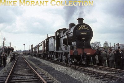 SLS: Farewell to the SMJ Tour 24/4/65 Fowler 4F 0-6-0 no. 44188 at the former S&MJR station at Stratford (Old Town).