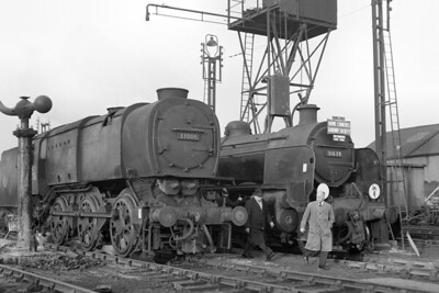 HCRS: Six Counties Railtour 7/3/65 This ambitious tour was the 13th and last tour organised by the Home Counties Railway Society and started and ended at Paddington station. This shot was taken in bitterly cold conditions whilst the engines, Bulleid Q1 class 0-6-0 no. 33006 and Maunsell 'U' class mogul no. 31639 both Guildford allocated at the time, were serviced at the former LMS shed in Wellingborough. The trip ran consistently behind schedule and lasted four minutes short of twelve hours with the arrival time at Paddington being some fifty minutes later than scheduled. [Mike Morant collection]