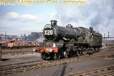 Ian Allan: Lickey & Midlands Railtour 27/3/65 Collett designed Castle class 4-6-0 no. 7029 Clun Castle at Nottingham having hauled the tour from Paddington via the Lickey incline. [Mke Morant collection]
