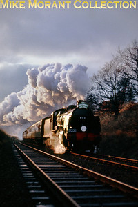 LCGB: The Maunsell Commemorative Rail Tour 3/1/65 Maunsell 'N' class 2-6-0 31831 hurtles towards Betchworth and Redhill in fading light even at about 14.05.