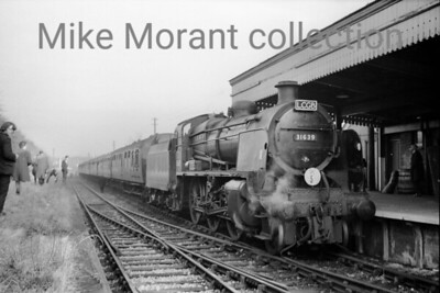 LCGB: S15 Commemorative tour 9/1/66 Maunsell 'U' class mogul no. 31639 at Bordon during the first of these identical tours that ran on consecutive weekends. This was actually the relief tour which took place a week before the originally booked date and operated in reasonable weather whereas, depicted elsewhere on this site, the following weekend was beset with inclement wintry weather.
