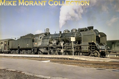 LCGB: La Cote du Nord 29/9/68 A fine colour portrait of SNCF Nord pacific no. 231 K 82 at Calais Maritime on 29/9/68. [Mike Morant collection]
