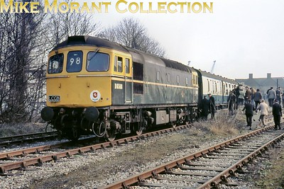 Crompton diesel no. D6568 at what remained of Gravesend West station which had closed to passengers as far back as August 1953. D6568 would become no. 33050 under the TOPS numbering scheme and would be withdrawn in May 1993 whilst allocated to Stewarts Lane depot. [Mike Morant collection]