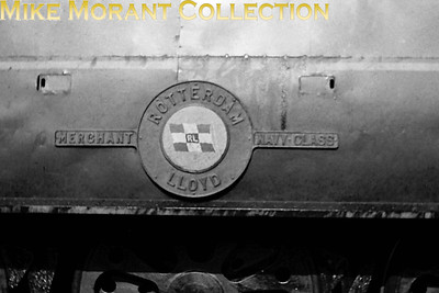 Bulleid original Merchant Navy class no. 35015's nameplate Rotterdam Lloyd. [Mike Morant collection]