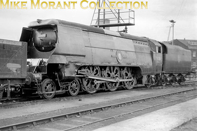An undated view of Bulleid original Merchant Navy pacific no. 35006 Peninsular & Oriental S. N. Co. at Eastleigh. [Mike Morant collection]