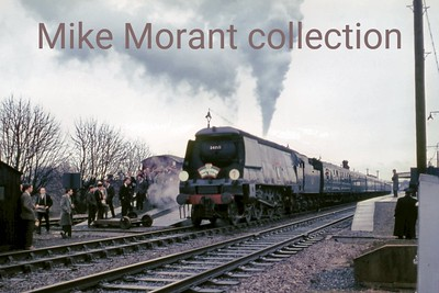 LCGB: The Cross Countryman 12/12/65 Bulleid West Country class pacific no. 34015 Exmouth at Cholsey.