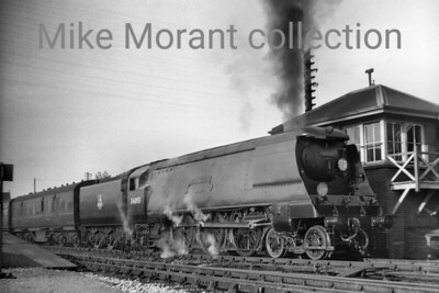Bulleid original 'West Country' pacific no. 34093 Saunton at Boscombe on an unspecified date in 1953. 34093 wopuld be rebuilt to the Jarvis specification in May 1960 and would see out the end of Southern steam in July 1967. [Mike Morant collection]