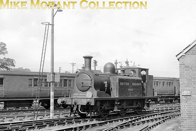 Isle of Wight based ex-LBSCR E1 class 0-6-0T No. W3 Ryde at Newport on 1/9/49.