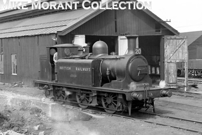 Isle of Wight based ex-LBSCR E1 class 0-6-0T No. W1 Medina on shed at Newport on 1/9/49.