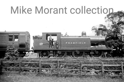 """LBSCR, Billinton designed E4 class 0-6-2T no.559 Framfield described as """"at Norbury c. 1906"""". Framfield, although a Brighton product, would spend all its nationalised years on LSWR metals based at Eastleigh and would be withdrawn there as BR no. 32559 in June 1960. [Mike Morant collection]"""