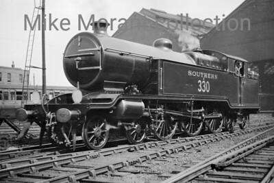 Former Lawson Billinton's last design for the LBSCR was the superb 'L' class Baltic tank no. B330, depicted here at Brighton circa 1930, was built in 1921 but was rebuilt under Maunsell's jurisdiction as an N15X 4-6-0 named Cudworth in September 1935. [Mike Morant collection]