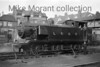 Shown here shunting at Hove   -  note the distinctive foot bridge which spanned both the goods yard and the platforms -   is LBSCR Lawson Billinton E2 class 0-6-0T no. 109 which was the last of its class built at Brighton in October 1916. Much of its BR life as 32109 it was based at Dover until August 1956 which saw a move to Eastleigh followed by reallocation to Southampton Docks where withdrawal came in April 1963.<br> [<i>Mike Morant collection</i>]