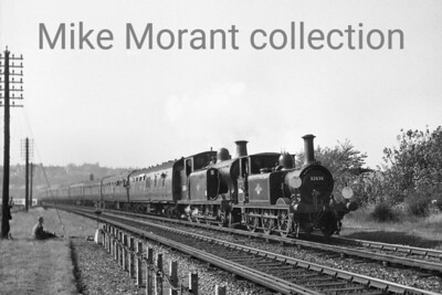 RCTS: The Sussex Special Rail Tour 7/10/62 This pairing of LBSCR locomotives. Stroudley A1X 0-6-0T no. 32636 and R. J. Billinton E6 0-6-2T no. 32418, were the motive power for the south coast part of the tour and are depicted here at London, Road, Brighton. 32636 is still with us today and is based at the Bluebell Railway whereas 32418 left the scene during the great cull of pre-nationalisation locos in December 1962.