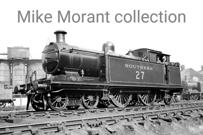 Former LBSCR Marsh designed 'I3' class 4-4-2T no. B27 at Brighton circa 1930. B30 was built with a saturated boiler at Brighton in May 1909 and was superheated in February 1925.  Many of this class survived to be taken into BR stock and rebranding to BR 32027 was applied in February 1949 whilst allocated to Tunbridge Wells West mpd which is also where withdrawal came in January 1951. [Mike Morant collection]
