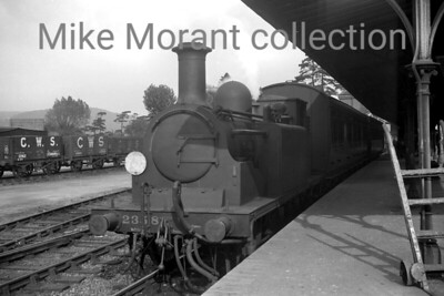 Southern Railway, Stroudley 'D1' class 0-4-2T no. 2358 at Arundel station.on 17/10/1937. [J. H. Venn / Mike Morant collection]
