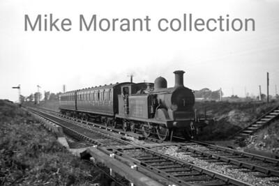 Southern Railway, R. Billinton 'D3' class 0-4-4T no. 2379 near Barnham in 1937. [J. H. Venn / Mike Morant collection]