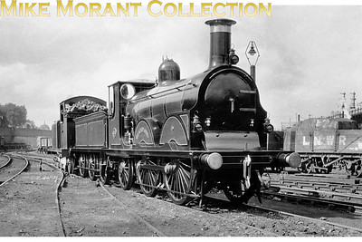In 1927 the Stephenson Locomotive Society arranged with the Southern Railway for Stroudley B1 class 0-4-2 Gladstone no. 618 to be restored to its original glory for display at the Science Museum in London but with no space available it was taken to York where it has remained to this day. Renumbered back to 214, we see the restored Gladstone during its journey northwards in May 1927 at Battersea in south London.