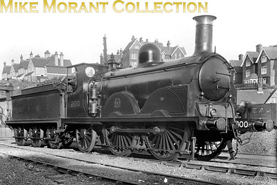LBSCR Stroudley B1 0-4-2 No. 200 at what is probably St. Leonards.