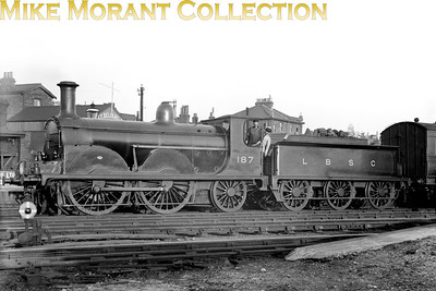 LBSCR Stroudley B1 0-4-2 No. 187 at East Croydon Main.