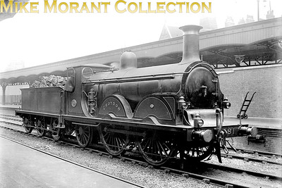LBSCR Stroudley B1 'Gladstone' class 0-4-2 no. 181 Croydon at Victoria station. Croydon was built at Brighton in February 1890 and withdrawn as SR no. B181 in December 1929. [Mke Morant collection]