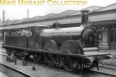A superb portrait of Stroudley B1 0-4-2 No. 198 Sheffield on the relief road at East Croydon station in 1904.