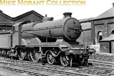 """LBSCR Billinton designed B4 class 4-4-0 no. 2056 was built at Brighton in August 1901 and susequently enhanced by Marsh in 1923 to become the B4X as illustrated here at New Cross Gate mpd on 13/5/50. Although in BR ownership by this time it was never BR branded and was officially withdrawn here in October 1951 but had actually been stored """"out of use"""" since January 1950. [Mike Morant collection]"""