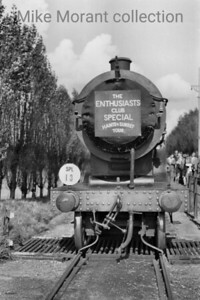 REC: Hants & Surrey Tour 26/9/53 This was the first railtour charted by the Railway Enthusiasts Club at Farnborough and apparently started at North Camp. The motive power for much of the tour was provided by Drummond L12 no. 30434 which, by this time, was already last of its class in service and would survive until February 1955 allocated to Guildford throughout. Here we see 30434 during a photo stop at Kingsley Halt on the Bordon branch.. [Mike Morant collection