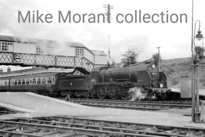 Urie H15 class 4-6-0 no. 30331 prepares to depart from Yeovil Junction whilst in charge of a Salisbury - Exeter semi-fast service in the mid-1950's. 30331 was a Salisbury engine throughout the 1950's until eventual withdrawal in March 1961. [Mike Morant collection]