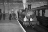 <b>RCTS: Bisley Tramway & North West Surrey Rail Tour 23/11/52</b><br> LSWR Adams 0395 class 0-6-0 No. 30577 at Waterloo station. 30577 was built in 1883 and was allocated to Guildford when this tour took place. Withdrawal came in November 1961 from the same shed.<br> [<i>Mike Morant collection</i>]