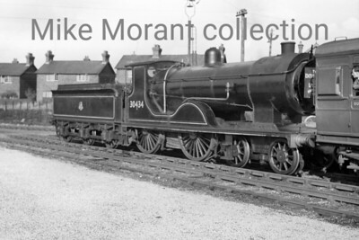REC: Hants & Surrey Tour 26/9/53 This was the first railtour charted by the Railway Enthusiasts Club at Farnborough and apparently started at North Camp. The motive power for much of the tour was provided by Drummond L12 no. 30434 which, by this time, was already last of its class in service and would survive until February 1955 allocated to Guildford throughout. The rolling stock for this special was LSWR pull-push set no. 348 and the special is depicted here at Bordon. [Mike Morant collection