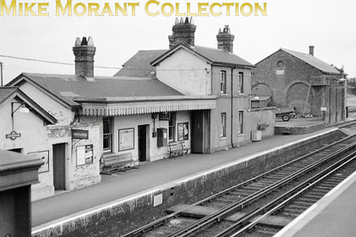 The buildings on the Down side of Adisham station in Kent which was opened by the London Chatham & Dover Railway in 1861, passed to the SECR in 1899 and remains with us to this day. This undated shot was taken circa 1960.