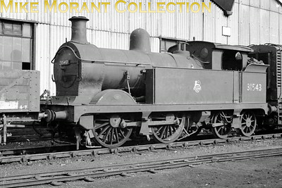 SECR Wainwright 'H' class 0-4-4T no. 31543. Date and location not defined. 31543 was withdrawn in July 1963 whilst a resident of Tunbridge Wells West mpd.