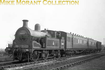 Leysdown on the Sheppey Light Railway in an undated view but taken between June 1950 when Former LCDR Kirtley 'R' class 0-4-4T no. 31665 acquired its BR number and the closure of the Branch in December 1950. The famed branch stock is articulated set no. 514. No. 31665 was allocated to Gil;lingham mpd at the time and would be withdrawn from Tonbridge shed in September 1952.