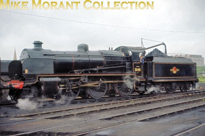 Maunsell 'N' class mogul no. 31411 at Redhill shed on 13/6/65. [Slide taken by Mike Morant]