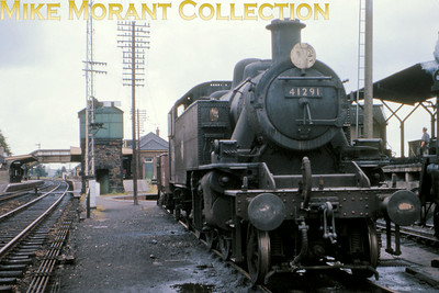 Ivatt 2MT 'Mickey Mouse' 2-6-2T no. 41291 berthed at the small Okehampton sub-shed in August 1964. [Mike Morant collection]