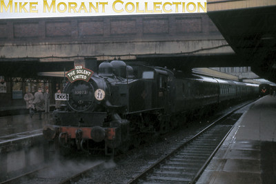 LCGB: Solent Limited 30/4/61 A dreadfully gloomy shot of USA tank no. 30073 at Southampton Central. This was a relatively short leg of the tour and the only part in which 30073 participated.