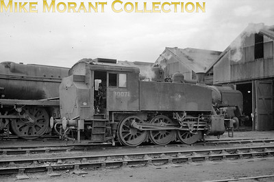 BR Southern region USA 0-6-0T no. 30071 on shed at Eastleigh on 19/12/65. [Mike Morant collection]
