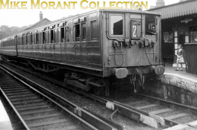 This could well be the first train photo I ever took back in 1954 on a dull Sunday afternoon whilst ostensibly visiting a grandmother in nearby Netherford Road. This is my only image of a Southern 2-SL unit taken at Wandsworth Road station but sadly this is from the only surviving print as the negative was lost decades ago.