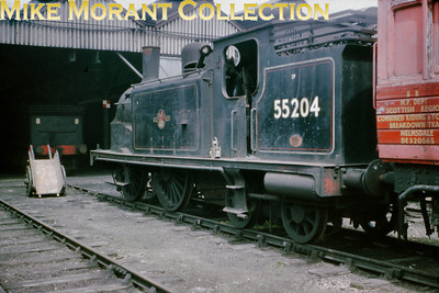 Former Caledonian Railway McIntosh 2P 0-4-4T 55204 stored outside Perth shed on August 31st 1964 awaits her fate in December having been withdrawn some two years earlier.