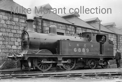No. 6889 was a James Johnson 'R' class  0-4-4T design for the Great North of Scotland Railway built in 1893 by Neilson & Co. This shot was taken in 1929 by which time it had been reclassified by the LNER as a G10 with the number 6889. I don't have specifics about this engine but the entire class of only 9 locos was withdrawn between 1937 and 1947. [Mike Morant collection]