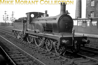 Glasgow & South Western Railway  Manson Class 194 4-4-0 no. 14242 seen here at Kilmarnock with the smokebox pointing eastwards twards Carlisle. I have no further information on this loco.