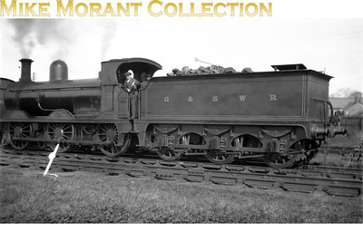 Glasgow & South Western Railway Manson designed 0-6-0 no. 110, seen here in G&SWR livery, was built by NBL in 1907 and in common with almost all G&SWR designed locos it wasn't appreciated by its subsequent owner and was withdrawn circa 1930.