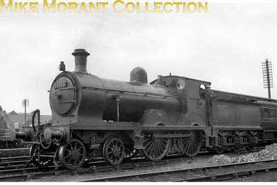 Glasgow & South Western Railway Smellie designed 119 class 4-4-0 no. 14128 was built at the company's Kilmarnock works in 1883 and entered service as no. 713. Its power rating was upgraded from 1P to 2P with the fitting of an 'X3' boiler circa 1921/2. In common with almost all G&SWR designed locos it wasn't appreciated by its subsequent owner and was withdrawn in September 1930.